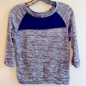 Navy Blue & Heathered Sweater top